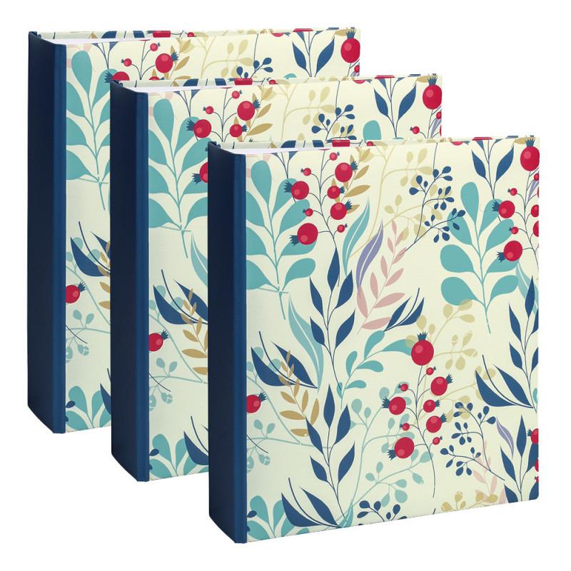 lot-3-albums-photo-flowers-2-blue-color-200-pochettes-11,5x15