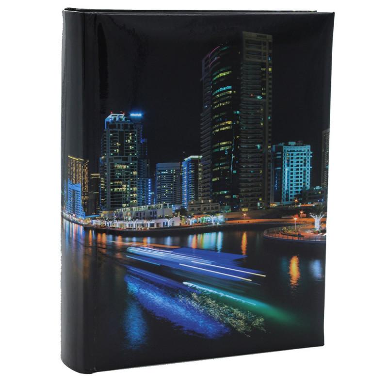 """Album photo à pochettes """"Black town""""pour 200 photos 10x15 - face"""