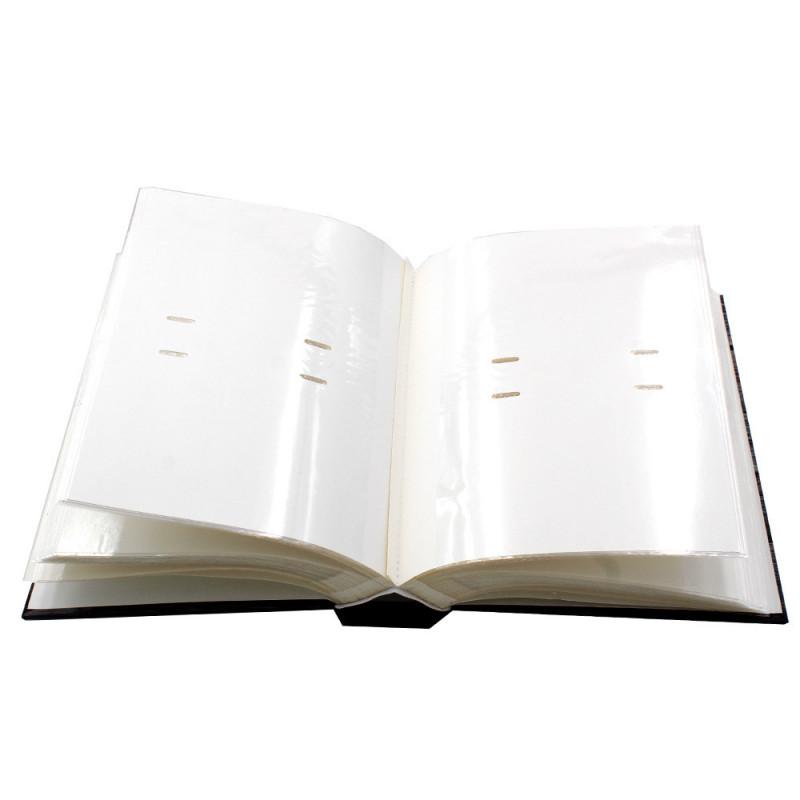 """Album photo à pochettes """"Black town""""pour 200 photos 10x15 - sans-photos"""