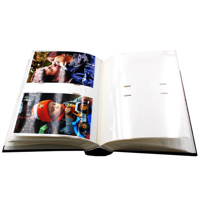 """Lot de 2 albums photo à pochettes """"Black town""""pour 200 photos 10x15 - avec-photos"""