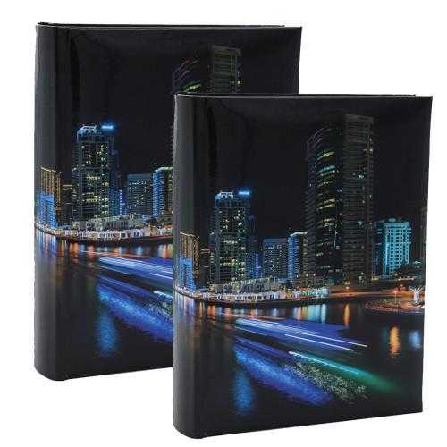 """Lot de 2 albums photo à pochettes """"Black town"""" pour 200 photos 10x15"""