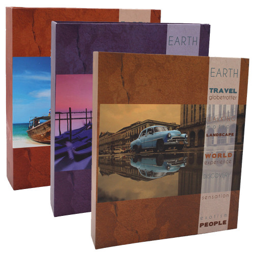 Lot de 3 albums photo CPC Travel 200 pochettes 11X15