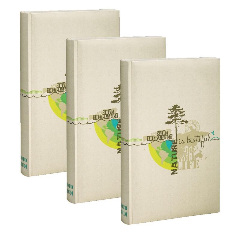 Lot de 3 albums photo Biotiful crème 300 pochettes 11,5X15