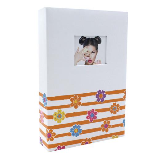 Album photo Shining Flowers orange 402 pochettes 10X15