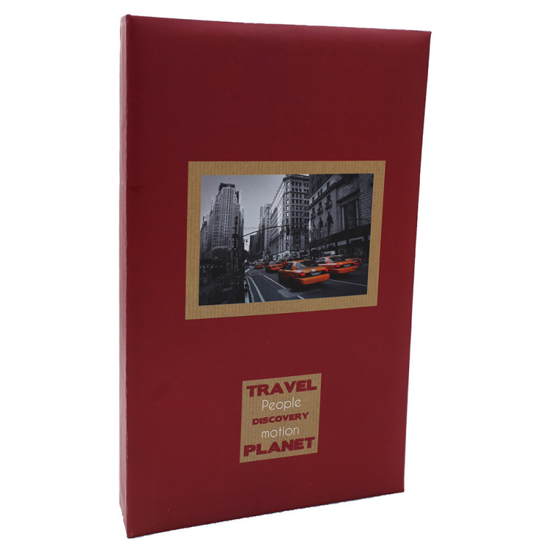Album photo Voyages bordeaux 300 pochettes 11X15