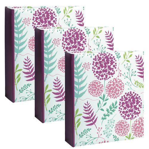 Lot de 3 albums photo Flowers 2 Violet 200 pochettes 11,5X15