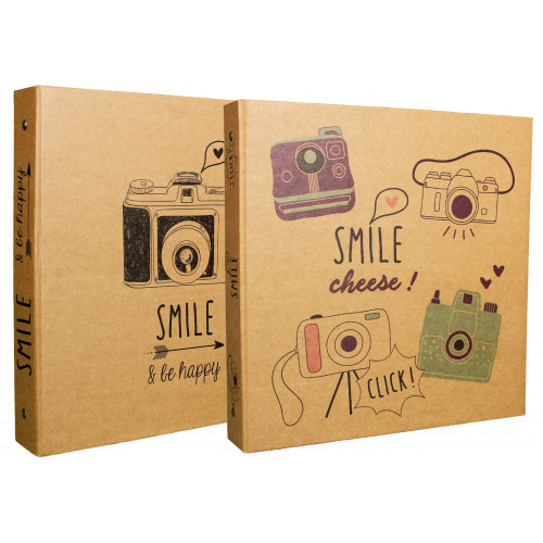 Lot de 2 classeurs photo Smile 400 pochettes NOIRES 10X15