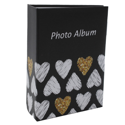 Mini album photo Golden Hearts N1à 100 pochettes 10X15