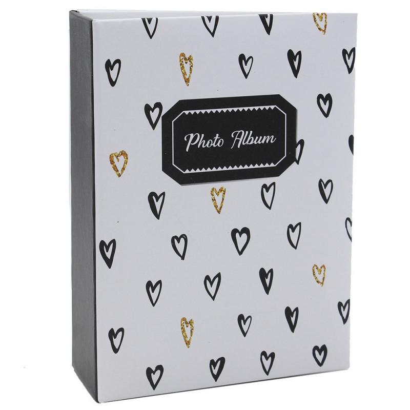 Mini album photo Golden Hearts N2 à 100 pochettes 10X15