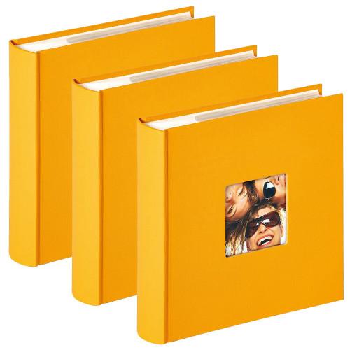 Lot de 3 albums photo Fun Jaune 200 pochettes 10x15