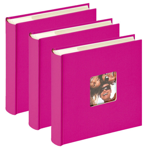 Lot de 3 albums photo Fun Fushia 200 pochettes 10x15
