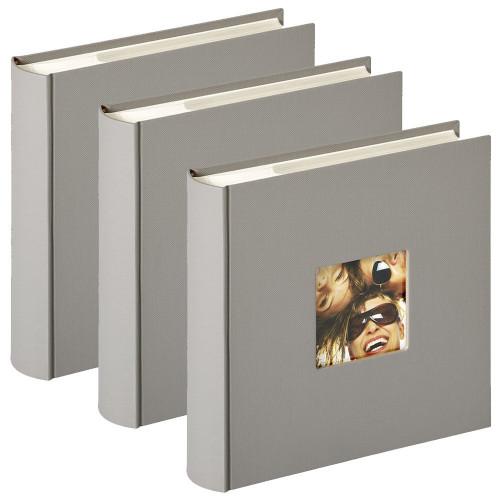 Lot de 3 albums photo Fun Gris taupe 200 pochettes 10x15