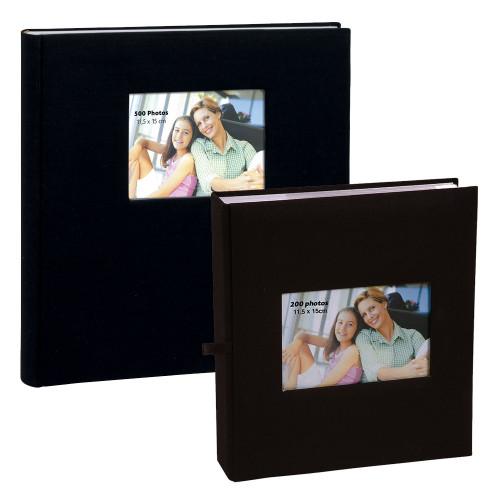 Lot de deux albums à pochettes Square pour 500 et 200 photos 11.5x15