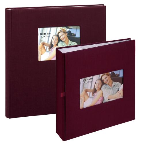 Lot de deux albums à pochettes Square Bordeaux pour 500 et 200 photos 11.5x15