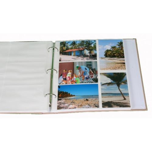 classeur-photo-marine-vert-400-pochettes-10x15