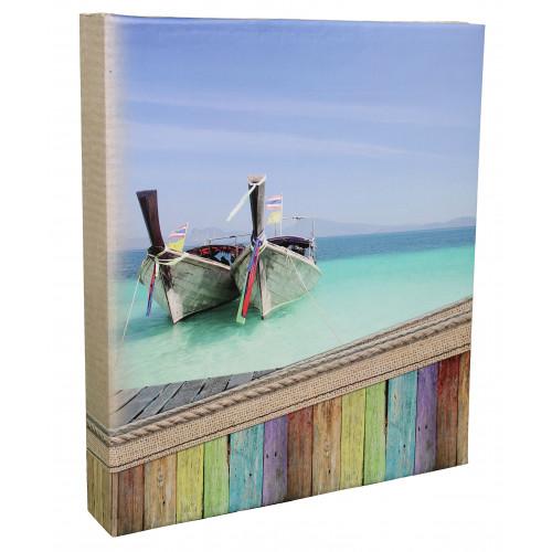 Classeur photo à pochettes EXPLORE barques pour 400 photos 11,5x15