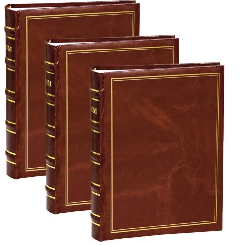Lot de 3 Albums photo à pochettes Marbré marron pour 200 photos 11x15