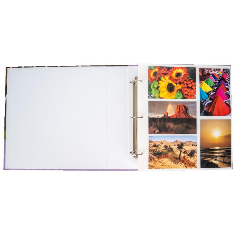 Classeur photo Lavande N1 pour 400 pochettes 10X15
