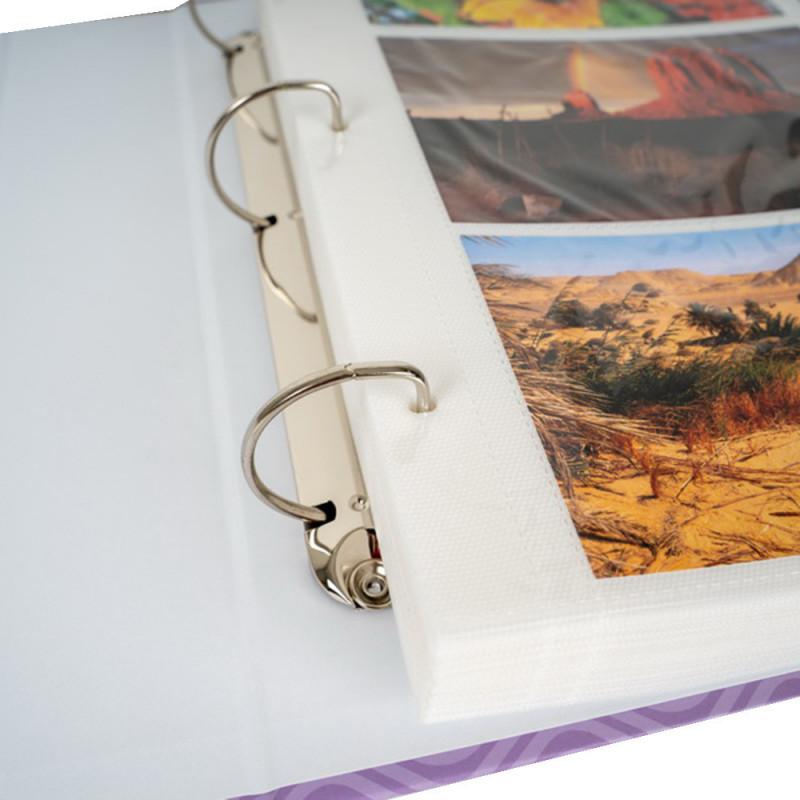 Classeur photo Lavande N2 pour 400 pochettes 10X15
