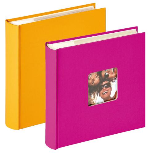 Lot de 2 albums photo Fun Fushia et Jaune 200 pochettes 10x15