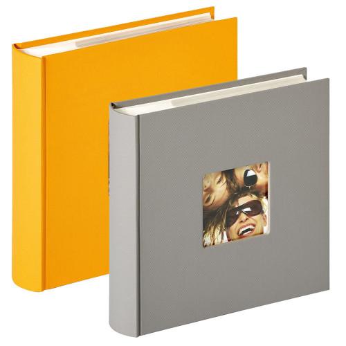Lot de 2 albums photo Fun Jaune et Gris 200 pochettes 10x15