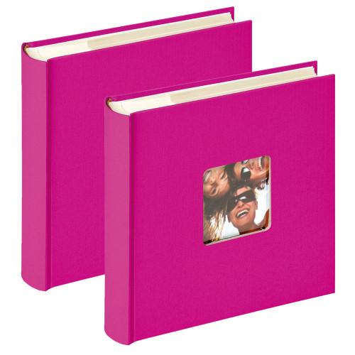 Lot de 2 albums photo Fun fushia 200 pochettes 10x15