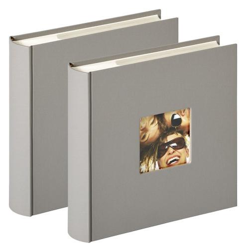 Lot de 2 albums photo Fun gris 200 pochettes 10x15