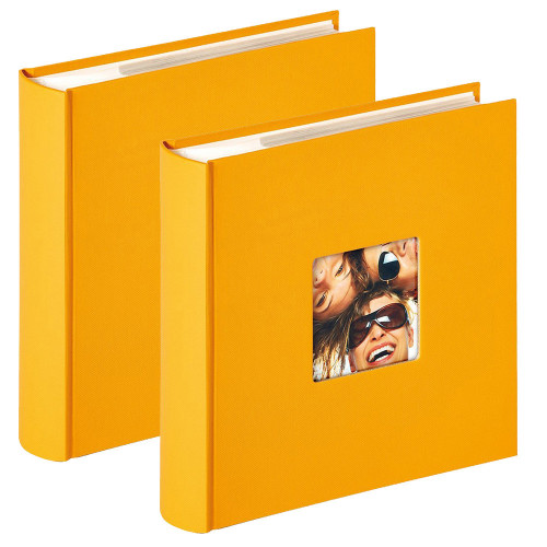 Lot de 2 albums photo Fun Jaune 200 pochettes 10x15