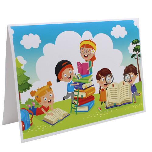 Cartonnage photo scolaire - Groupe 18x24 - J'aime lire