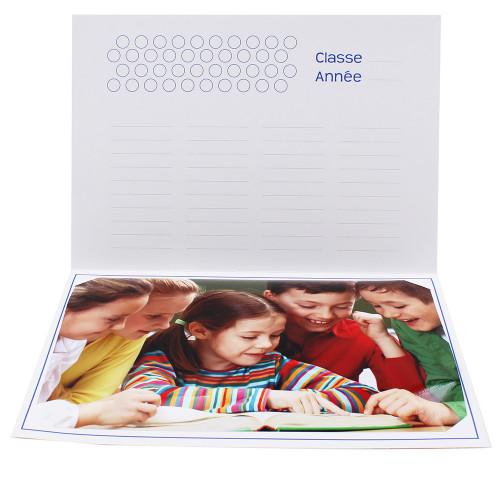 Cartonnage photo scolaire - Groupe 20x30 - J aime lire-interieur