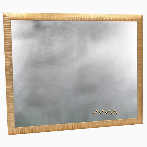 Pêle-mêle magnétique en bois Doré 40X50 fond alu