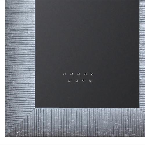 Pêle-mêle magnétique en bois Argenté 40X50 fond noir
