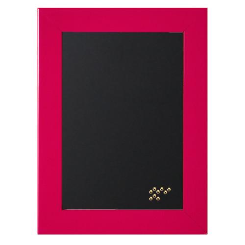 Pêle-mêle magnétique Gala rose 40x50 en bois fond noir