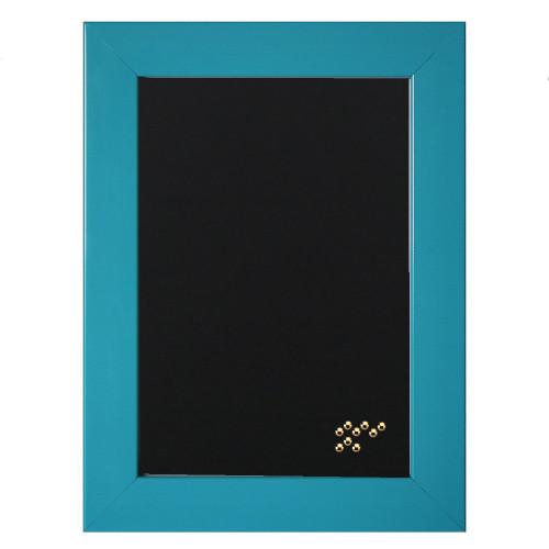 Pêle-mêle magnétique Gala bleu 40x50 en bois fond noir