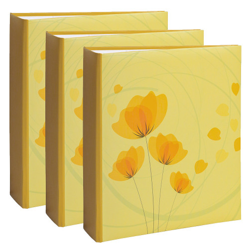 Lot de 3 albums photo Ellypse 2 Jaune 200 pochettes 11,5X15