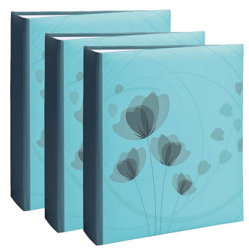 Lot de 3 albums photo Ellypse 2 bleu 200 pochettes 11,5X15