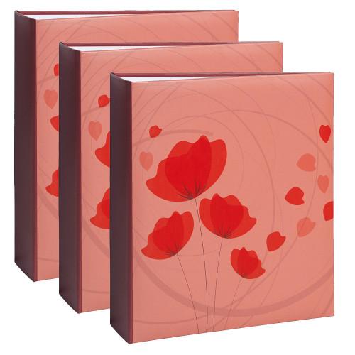 Lot de 3 albums photo Ellypse 2  rouge 200 pochettes 11,5X15