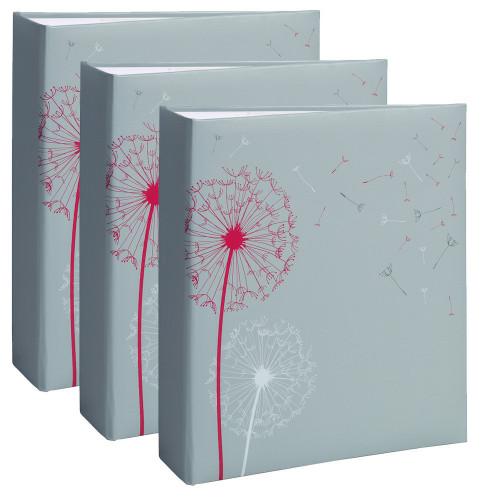 Lot de 3 albums photo Nature 2 gris 200 pochettes 11,5X15