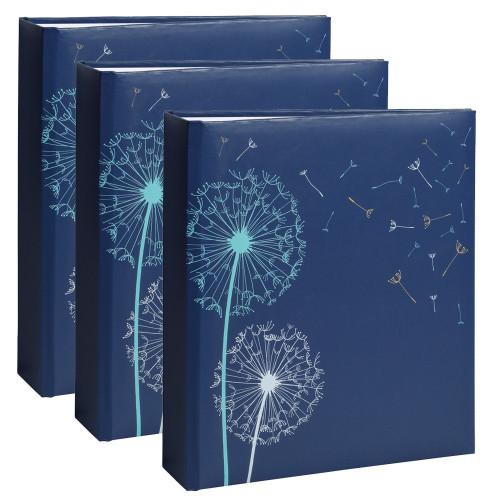 Lot de 3 albums photo Nature 2 bleu 200 pochettes 11,5X15