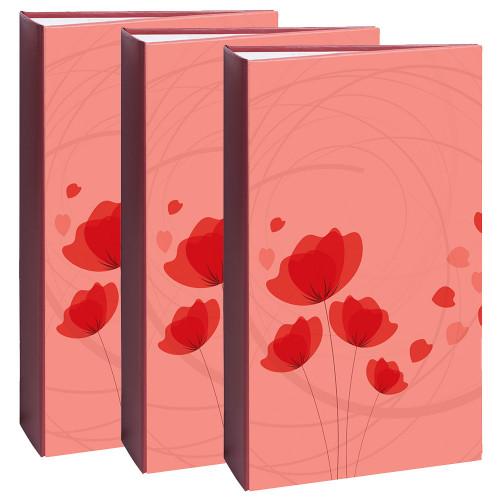 Lot de 3 albums photo Ellypse rouge 300 pochettes 11,5X15