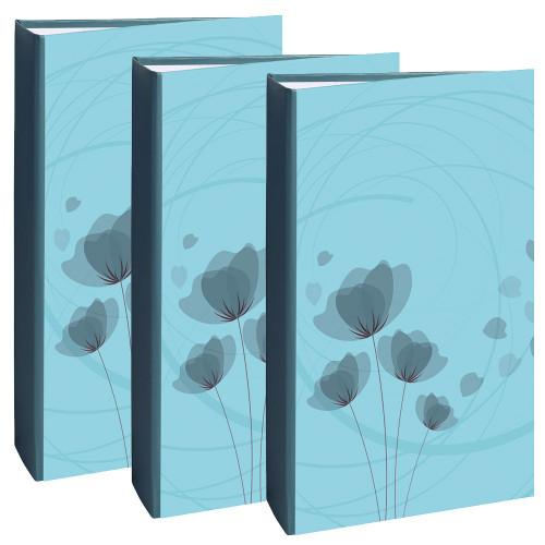 Lot de 3 albums photo Ellypse bleu 300 pochettes 11,5X15