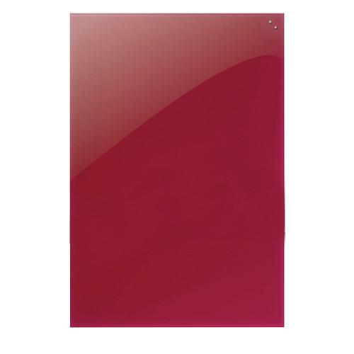 tableau magnetique naga en verre 40X60 rouge