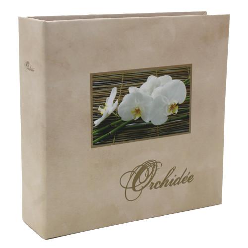Album photo Orchidée beige 100 pochettes 11X15