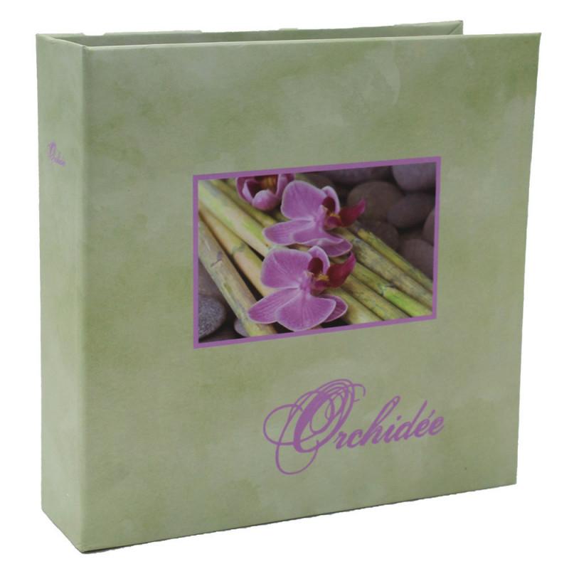 Album photo Orchidée vert 100 pochettes 11X15