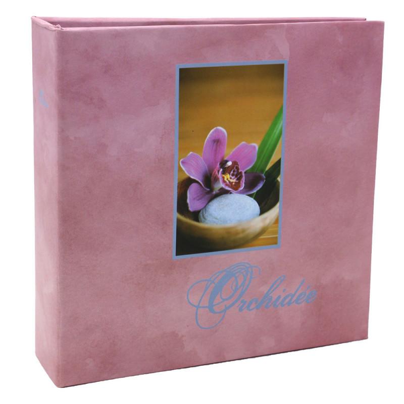 Album photo Orchidée rose 100 pochettes 11X15