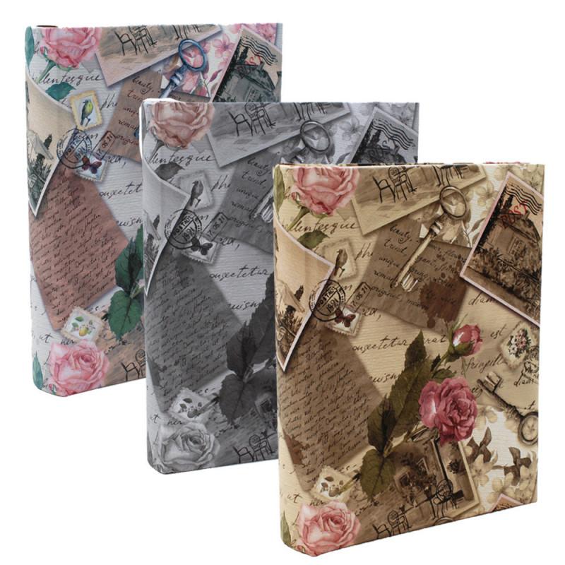 Lot 3 albums photo Vintage Roses 200 pochettes 10X15