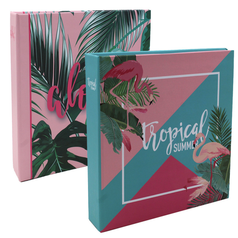 Lot de 2 albums photo Tropical Summer 200 pochettes 10x15