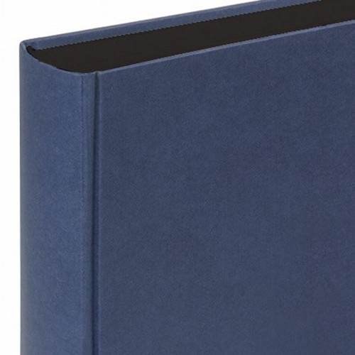 Album traditionnel Fun bleu page noire 400 photos 10x15 Walther detail tranche