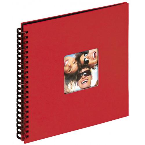 Album Fun rouge traditionnel à spirales 200 photos