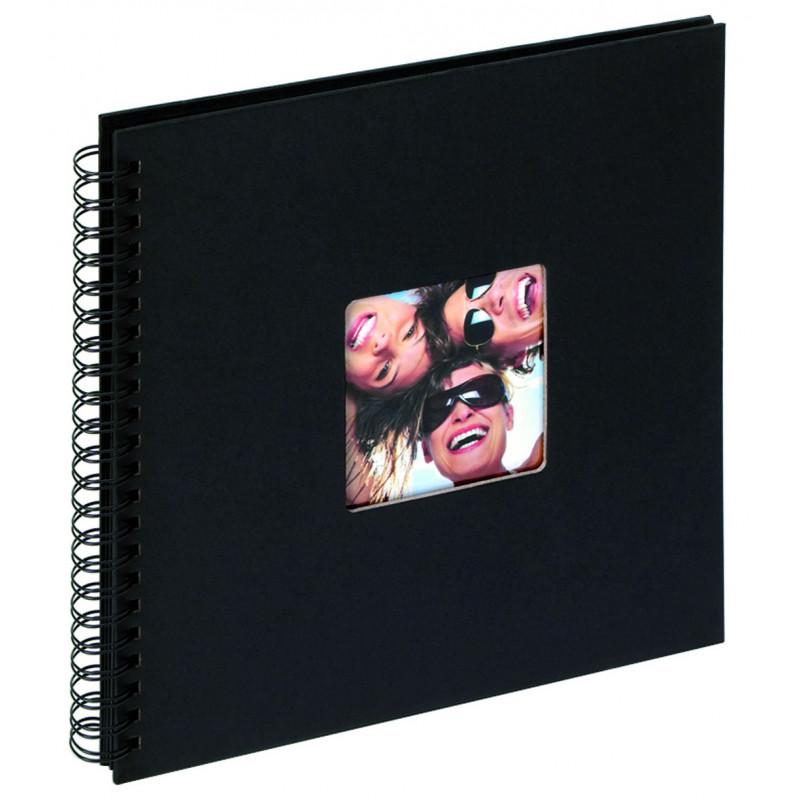 Album traditionnel à spirales Fun noir pour 200 photos